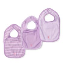 Striped Cotton Bib Set