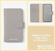 [セール]マイケルコース☆Saffiano Leather Case for iPhone X