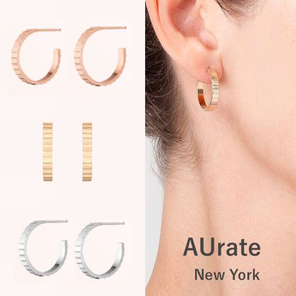 AUrate NewYork ピアス NY発! Infinity Hoop Earrings【AUrate NewYork】ペア
