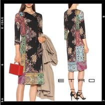 SALE【ETRO】 floral & paisley printed jersey dress