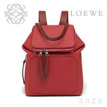 LOEWE★ロエベ Goya Small Backpack Scarlet Red/Burnt Red