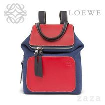 LOEWE★ロエベ Goya Small Backpack Royal Blue/Primary Red