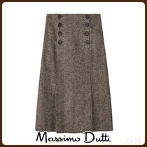 MassimoDutti♪TEXTURED HERRINGBONE PENCIL SKIRT