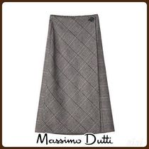 MassimoDutti♪CHECK WRAP SKIRT