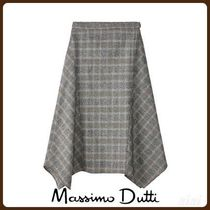 MassimoDutti♪POINTED CHECK WOOL SKIRT