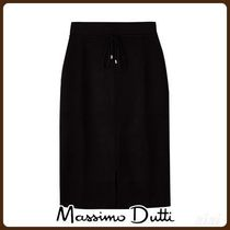MassimoDutti♪KNIT SKIRT WITH FRONT SLIT