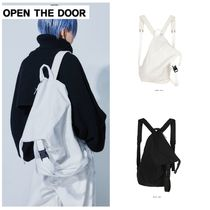 新作★OPEN THE DOOR★diagonal line 2way bag (2 color