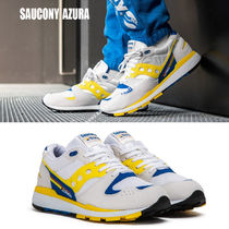 SAUCONY★AZURA★レトロ★兼用★WHITE/YELLOW/BLUE