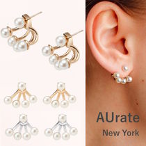 AUrate NewYork(オーレートニューヨーク) ピアス NY発! Quadripearl Ear Jackets【AUrate NewYork】ペア 14K