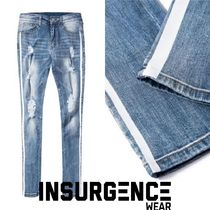 LAスタイル☆Insurgence☆DUAL STRIPE DENIM - BLUE