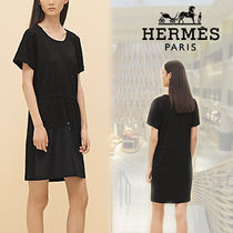 【RESORT19】HERMES*エルメス*Embroidered pocket dress ドレス