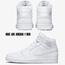 NIKE★AIR JORDAN 1 MID★WHITE/PURE PLATINUM