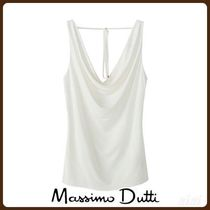 MassimoDutti♪DRAPED TOP WITH TIE DETAIL IN THE BACK