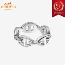 ◆Hermes エルメス Chaine d'Ancre シルバーチェーンリング