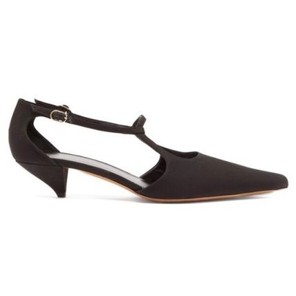 The Row パンプス 【19SS】The Row★Bourgeoise Salome crepe pumps(2)