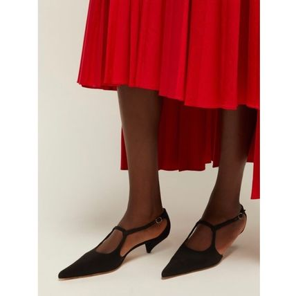 The Row パンプス 【19SS】The Row★Bourgeoise Salome crepe pumps(4)