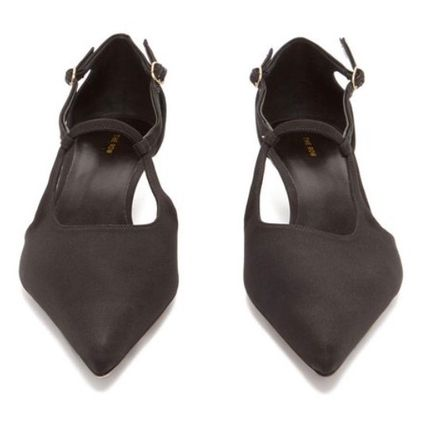 The Row パンプス 【19SS】The Row★Bourgeoise Salome crepe pumps(6)