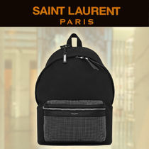 【19SS NEW】 Saint Laurent_men/ZAINO CITY STUDDED NERO