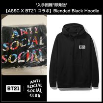 入手困難*即発送 ASSC X BT21 Collab  Blended Black Hoodie