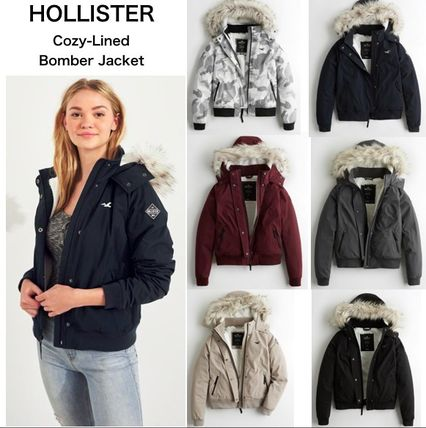 【Hollister】ホリスター Cozy-Lined Hooded Bomber Jacket