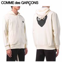 COMME des GARCONS パーカ PLAY スウェット プリント ホワイト
