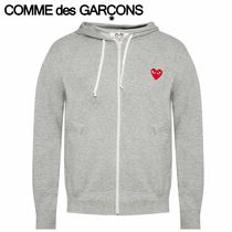 COMME des GARCONS パーカ PLAY スウェット プリント グレー
