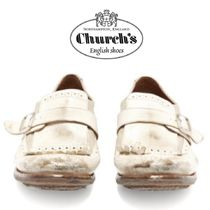 【19SS】CHURCH'S★Shanghai distressed-leather brogues