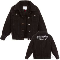 GIVENCHY(ジバンシィ) キッズアウター 大人OK★GIVENCHY★2019SS★ロゴ入デニムジャケット★黒★14Y