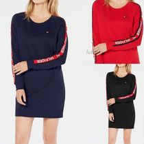 Tommy Hilfiger★新作/送料込★袖ロゴ入りワンピース