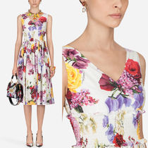19SS DG1868 FLORAL PRINT COTTON POPLIN DRESS