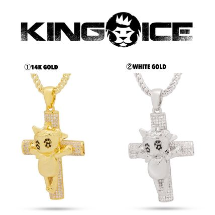 King Ice ネックレス・チョーカー 【Chief Keef x King Ice】☆新作☆The Glo Life Cross Necklace