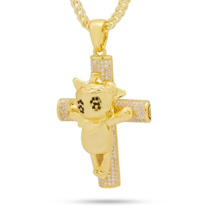 King Ice ネックレス・チョーカー 【Chief Keef x King Ice】☆新作☆The Glo Life Cross Necklace(2)