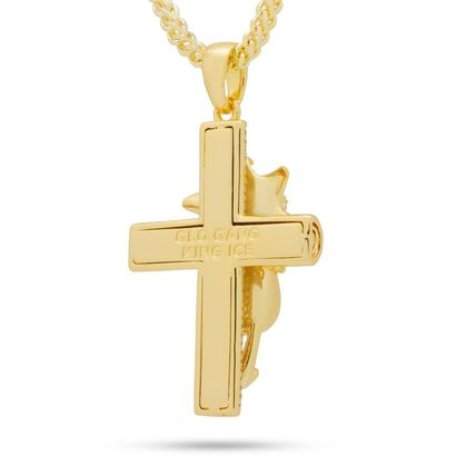 King Ice ネックレス・チョーカー 【Chief Keef x King Ice】☆新作☆The Glo Life Cross Necklace(3)