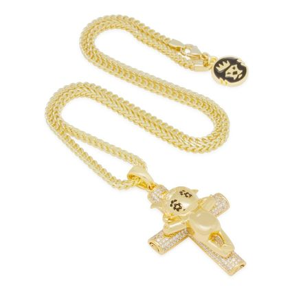 King Ice ネックレス・チョーカー 【Chief Keef x King Ice】☆新作☆The Glo Life Cross Necklace(4)