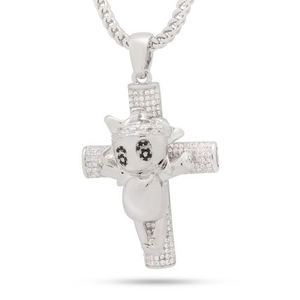 King Ice ネックレス・チョーカー 【Chief Keef x King Ice】☆新作☆The Glo Life Cross Necklace(5)