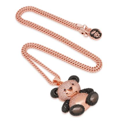 King Ice ネックレス・チョーカー 【King Ice】☆新作☆Rose Gold Two-Tone CZ Panda Necklace(4)