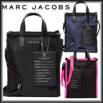 SALE! MARC JACOBS ロゴ入りビッグタグ付2WAYナイロントート♪