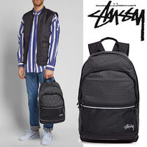 ● STUSSY ●人気 RIPSTOP ナイロン バックパック 黒 即発
