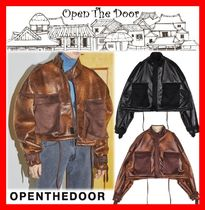 人気☆【OPEN THE DOOR】☆Over-Fit Crop Mustang☆2色☆UNISEX