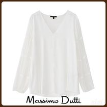MassimoDutti♪BLOUSE WITH CONTRASTING TRIMS