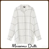 MassimoDutti♪CHECK SHIRT WITH CONTRASTING BUTTON