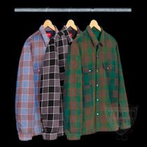 FW18 SUPREME QUILTED FADED PLAID SHIRT 全色 送料無料 シャツ