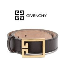 【19SS】GIVENCHY★Double-G leather belt
