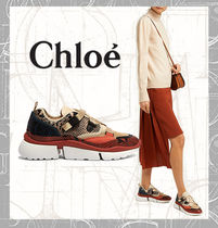 【Chloe】Sonnie raised-sole low-top trainers