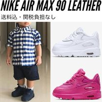 NIKEベビー/子供靴★Air Max 90 Leather 8cm〜16cm 白・黒