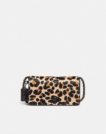 COACH☆レオパード柄☆ディンキー Dinky With Leopard Print