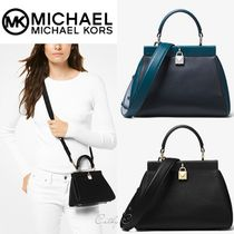 Michael Kors*レザー2way/Gramercy Small Leather Frame Satchel