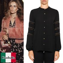 MICHAEL KORS    Blouse With Lace Inserts