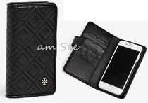【Tory Burch】FLEMING FOLIO iPhone 8ケースShell Black