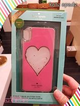 kate spade★IPHONE CASES ハート リキッド グリッター - XS MAX